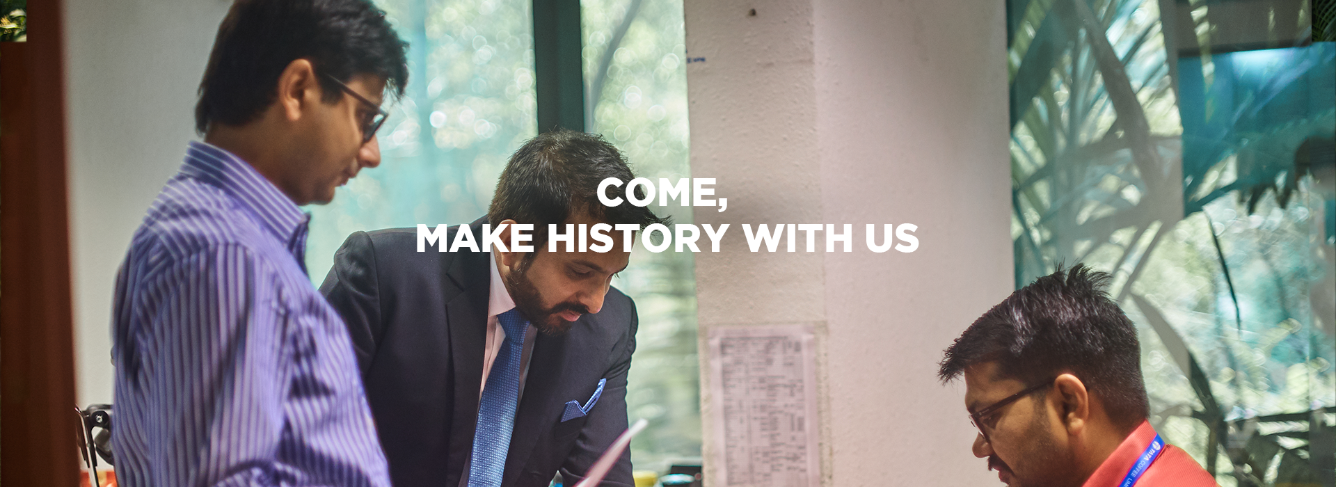 Come and make history with us  - Desktop  - Tata Coffee